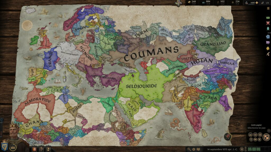 Carte de Crusader Kings 3
